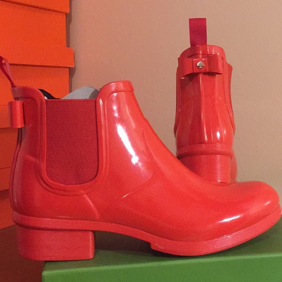 08fdc40d7c65 Kate Spade Telly red rain boots 9 short rubber bow